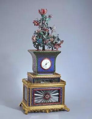所造钟表的造型大多是亭,台,楼,阁,塔,葫芦,花盆等形式.