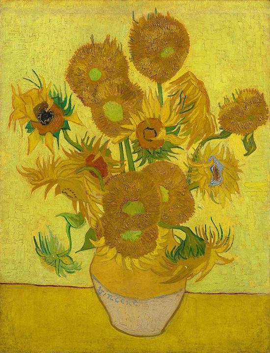 《向日葵》 1989 收藏于阿姆斯特丹凡高博物馆